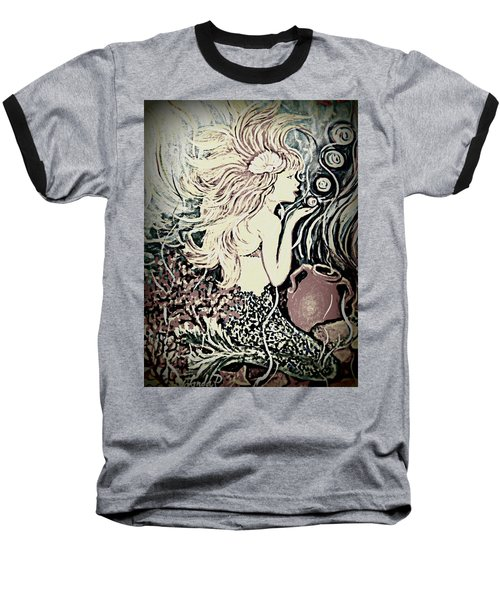 Blowing Bubbles Baseball T-Shirt by Yolanda Rodriguez