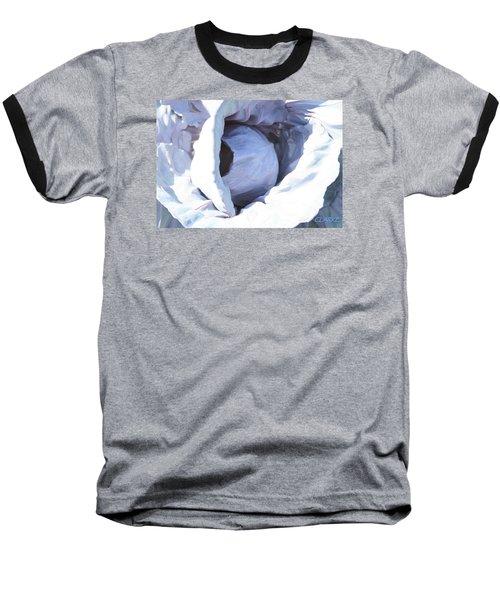 Blue Cabbage Baseball T-Shirt