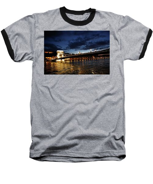 Blue Danube Sunset Budapest Baseball T-Shirt