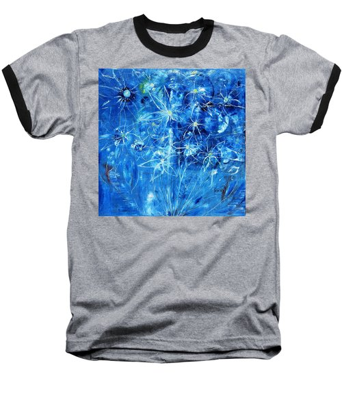 Blue Design Baseball T-Shirt