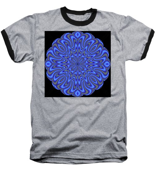 Blue Fire Baseball T-Shirt