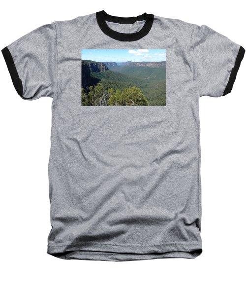 Blue Mountains Baseball T-Shirt by Carla Parris
