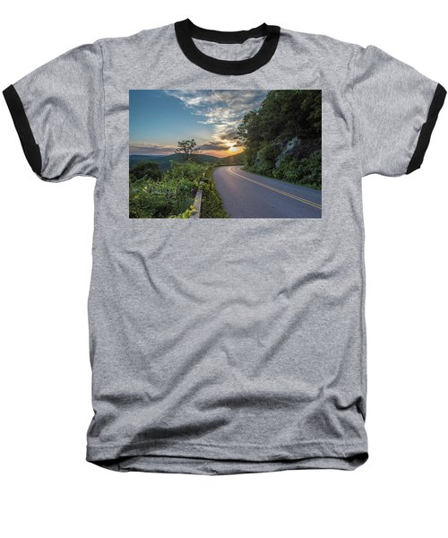 Blue Ridge Parkway Morning Sun Baseball T-Shirt
