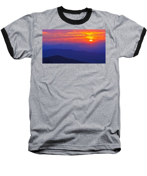 Blue Ridge Parkway Sunset, Va Baseball T-Shirt