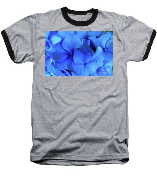 Baseball T-Shirt featuring the photograph Blue by Nancy Patterson