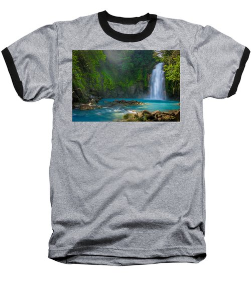 Blue Waterfall Baseball T-Shirt