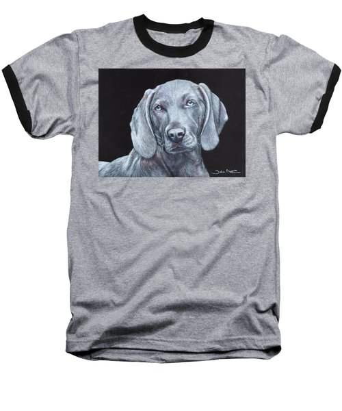 Blue Weimaraner Baseball T-Shirt