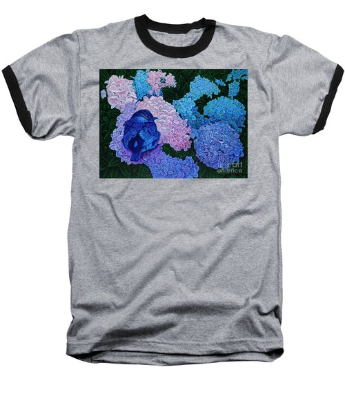 Baseball T-Shirt featuring the painting Bluebird by Michael Frank