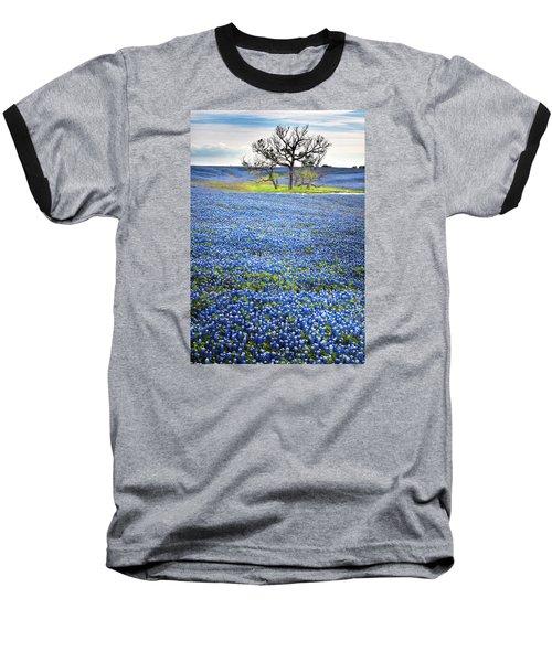 Bluebonnet Field Baseball T-Shirt by David and Carol Kelly