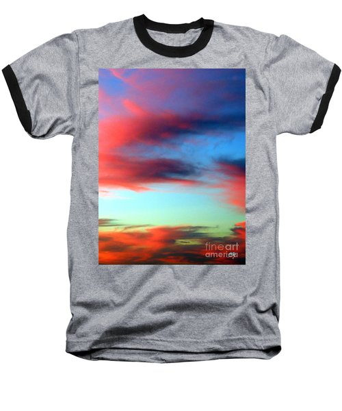 Baseball T-Shirt featuring the photograph Blushed Sky by Linda Hollis