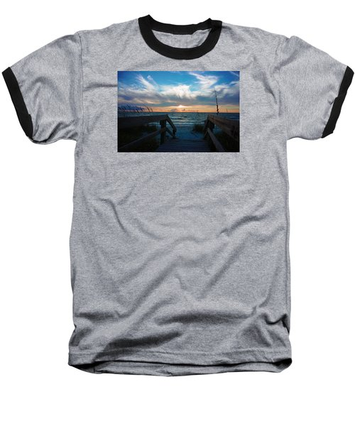 Baseball T-Shirt featuring the photograph Boardwalk At Delnor-wiggins Pass State Park by Robb Stan