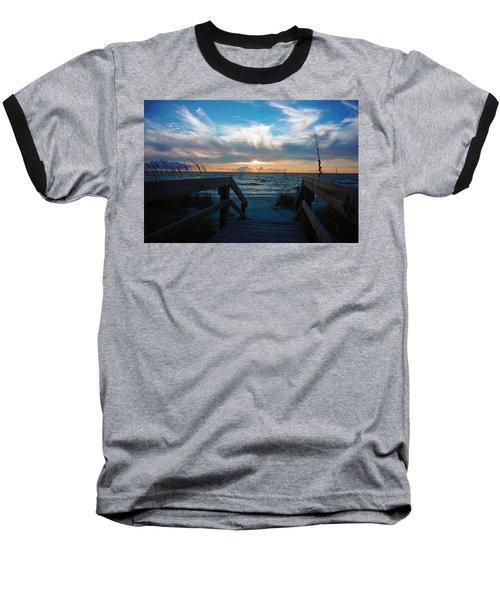 Boardwalk At Delnor-wiggins Pass State Park Baseball T-Shirt