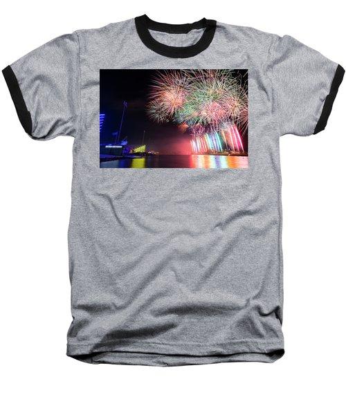 Boathouse Fireworks Baseball T-Shirt