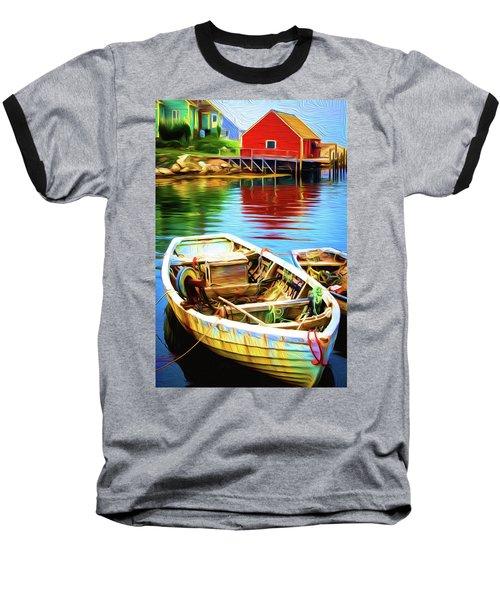 Boats Baseball T-Shirt by Andre Faubert