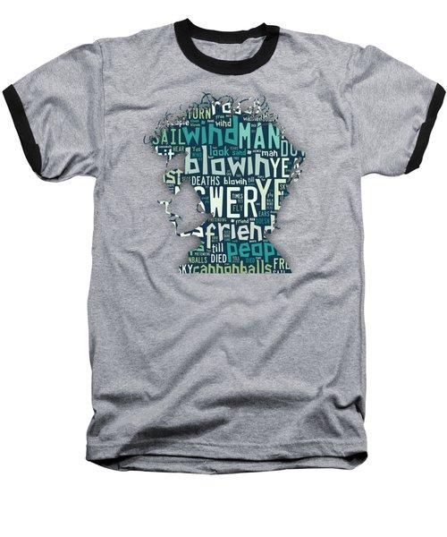Bob Dylan Blowin In The Wind Baseball T-Shirt