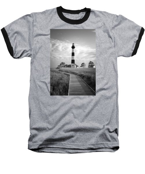 Bodie Island Lighthouse Baseball T-Shirt by Marion Johnson