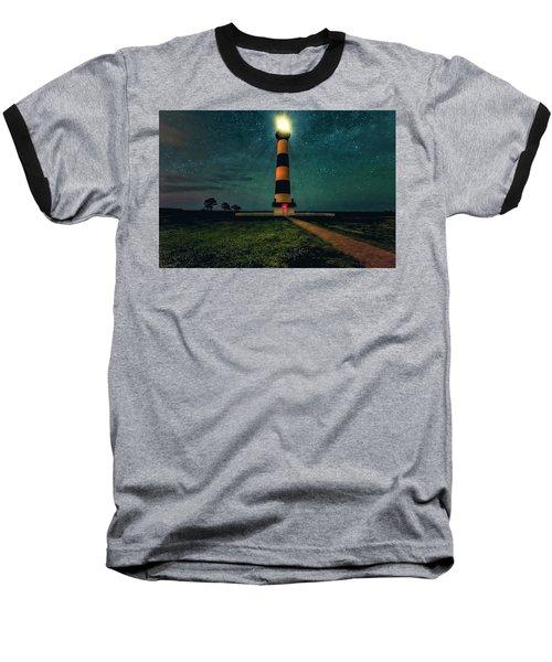 Bodie Island Night Baseball T-Shirt