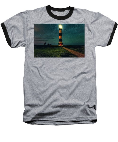 Bodie Island Night Baseball T-Shirt
