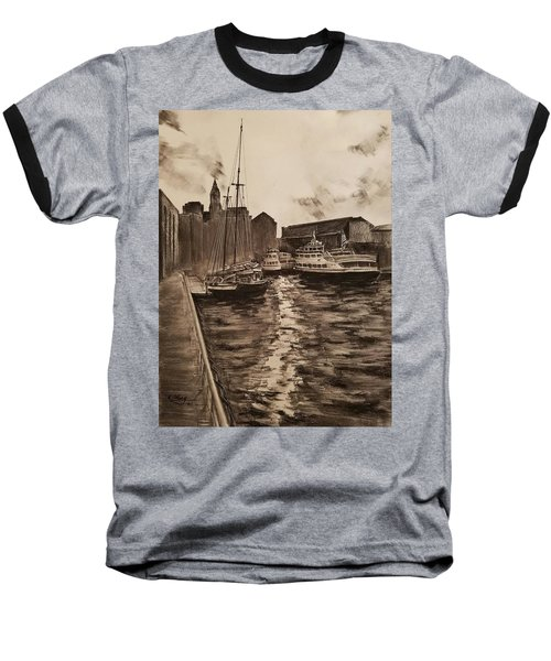 Boston Harbor Baseball T-Shirt by Rose Wang