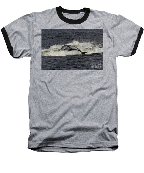 Bottlenose Dolphin Baseball T-Shirt