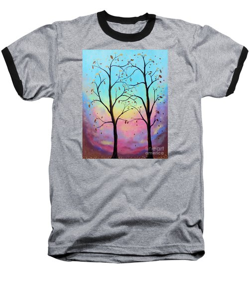 Baseball T-Shirt featuring the painting Branching Out by Stacey Zimmerman