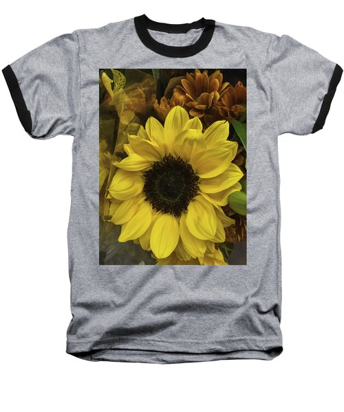 Bright Bouquet Baseball T-Shirt by Arlene Carmel