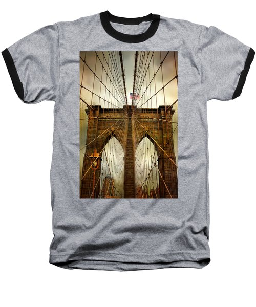 Brooklyn Bridge Twilight Baseball T-Shirt