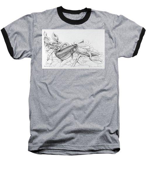 Brown Trout Pencil Study Baseball T-Shirt