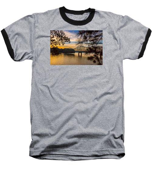 Browns Bridge Sunset Baseball T-Shirt