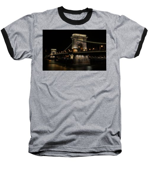 Baseball T-Shirt featuring the photograph Budapest At Night. by Jaroslaw Blaminsky