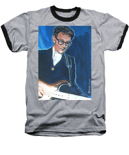Buddy Holly Baseball T-Shirt by Bryan Bustard