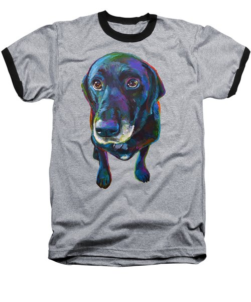 Buddy The Black Labrador Baseball T-Shirt