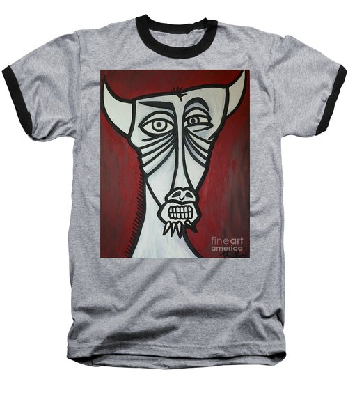 Bull Baseball T-Shirt by Thomas Valentine