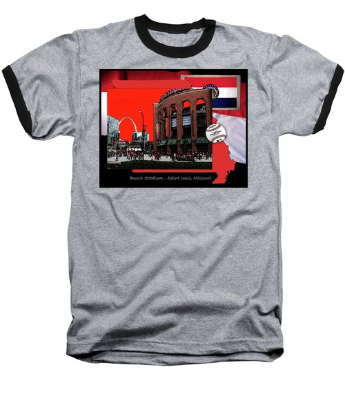 Baseball T-Shirt featuring the photograph Busch Stadium Saint Louis Missouri by John Freidenberg