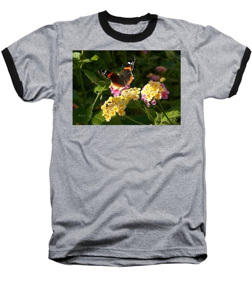 Busy Butterfly Side 2 Baseball T-Shirt by Felipe Adan Lerma