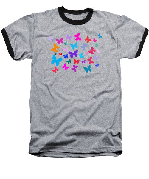 Butterflies Baseball T-Shirt