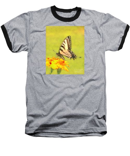 Butterfly Baseball T-Shirt by Marion Johnson