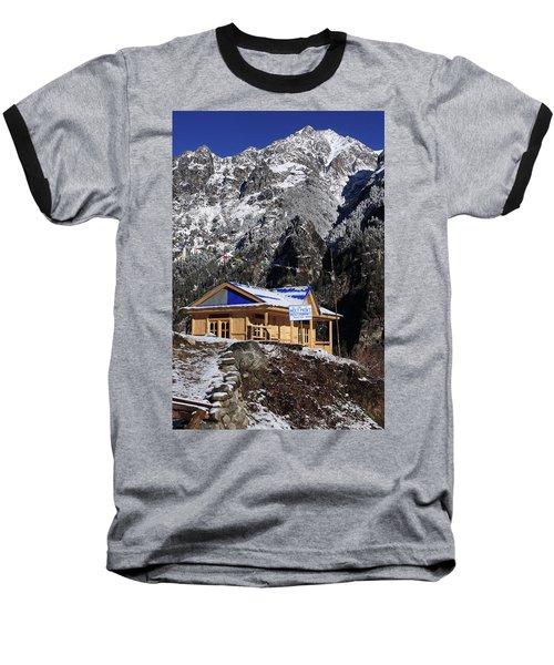Meeting Point Mountain Restaurant Baseball T-Shirt by Aidan Moran