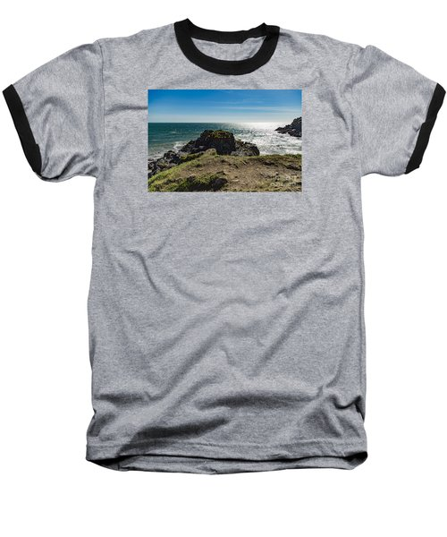 Cadgwith Cove Baseball T-Shirt by Brian Roscorla