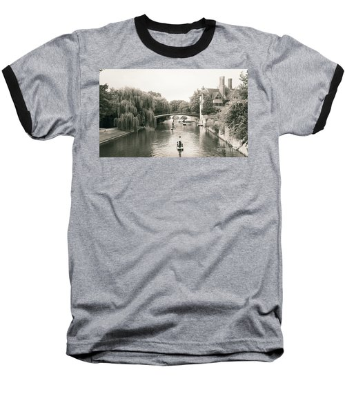 Cambridge River Punting Baseball T-Shirt by Eden Baed