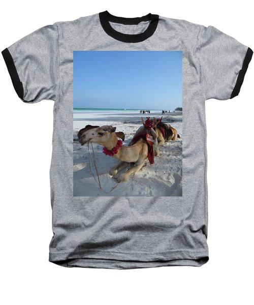 Camel On Beach Kenya Wedding Baseball T-Shirt