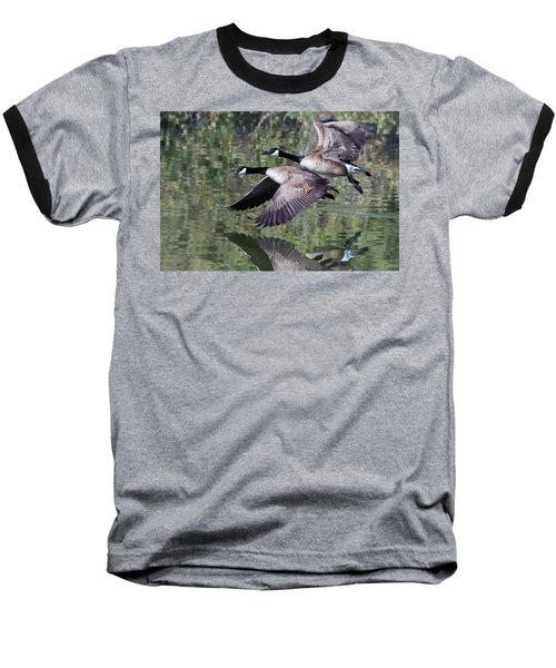 Canada Geese Baseball T-Shirt by Tam Ryan