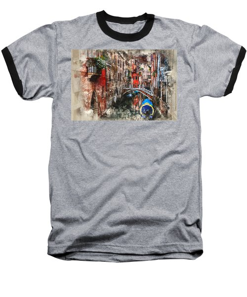 Canal In Venice Baseball T-Shirt