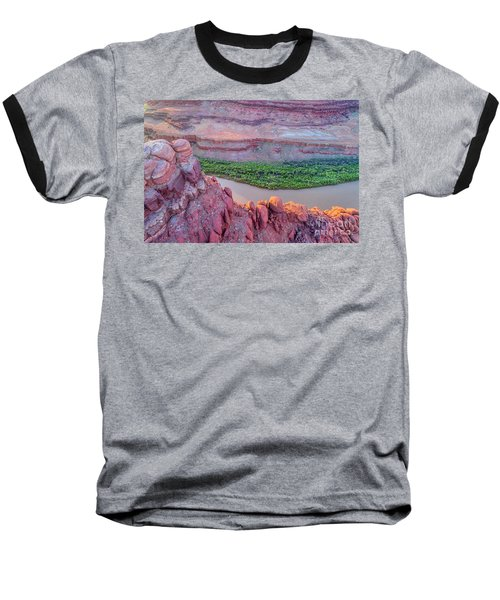 Canyon Of Colorado River - Sunrise Aerial View Baseball T-Shirt