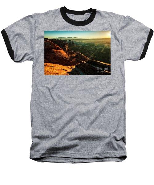 Baseball T-Shirt featuring the photograph Canyon Sunbeams by Kristal Kraft