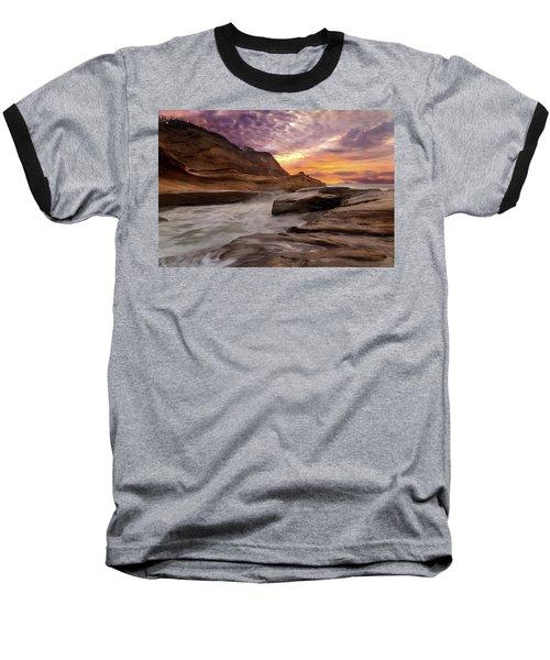 Cape Kiwanda Sunset Baseball T-Shirt