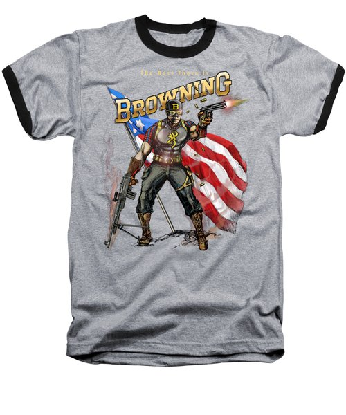 Captain Browning Baseball T-Shirt