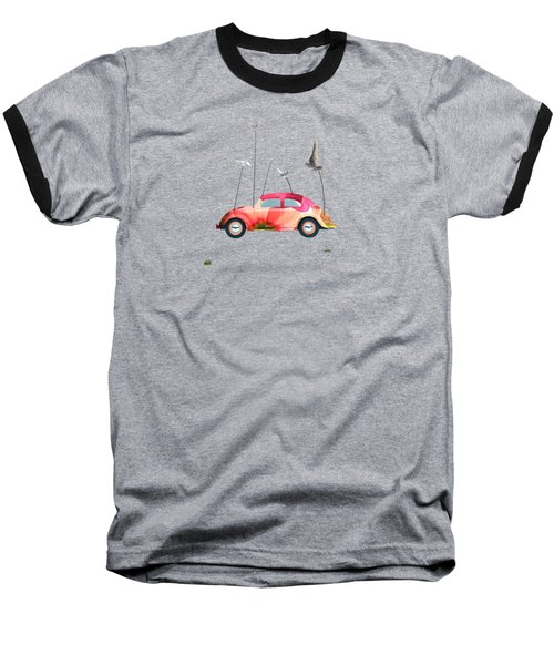 Suriale Cars  Baseball T-Shirt by Mark Ashkenazi