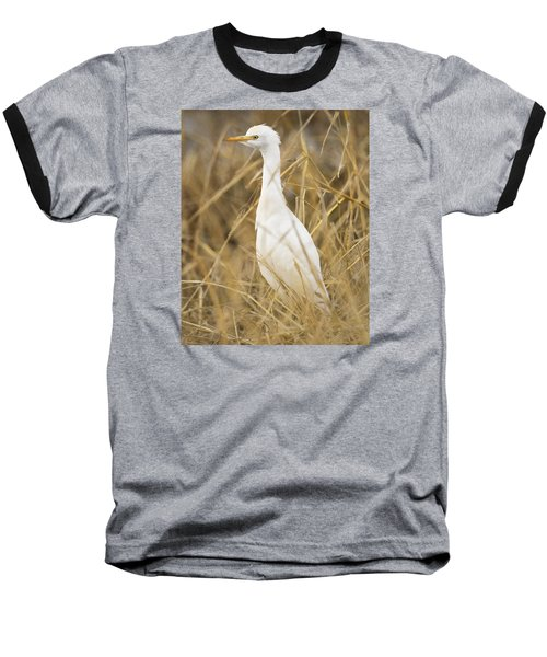 Baseball T-Shirt featuring the photograph Cattle Egret by Doug Herr