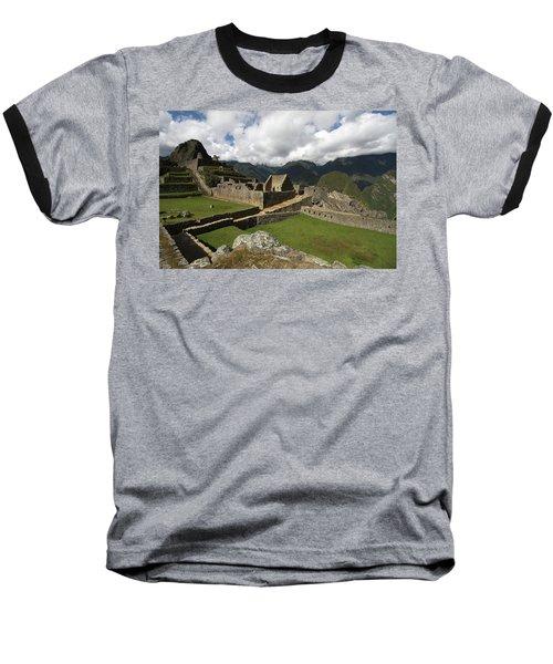 Central Plaza At Machu Picchu Baseball T-Shirt by Aidan Moran